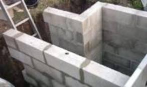 montage des murs en parpaings