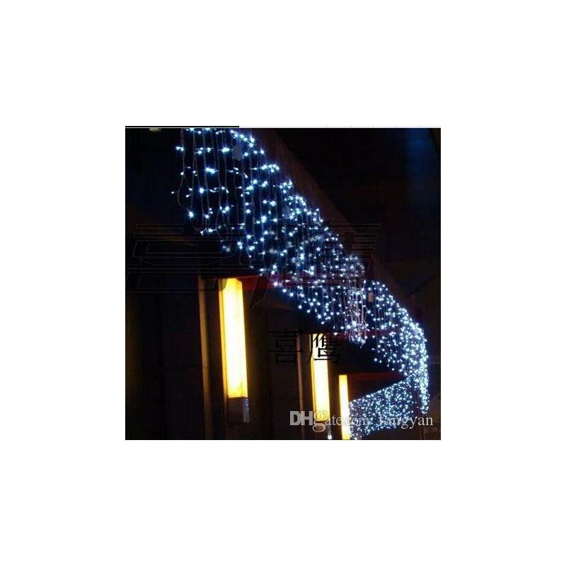 led rideau lumineux 5m x 1m hauteur impermeable ip55 blanc