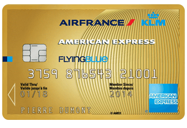 Cartes American Express Gold - carte Amex Gold AirFrance/KLM