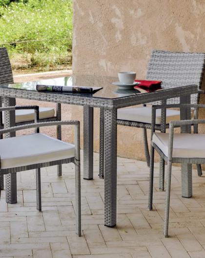 salon de jardin rimini 4 places resine tressee hevea mobilier de jardin