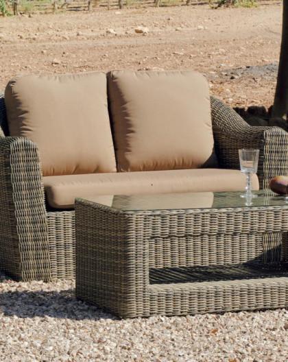achat vente salon de jardin mando 7 resine tressee osier hevea mobilier de jardin