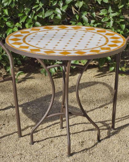 salon de jardin salamanca brasil 2 places table mosaique hevea mobilier de jardin