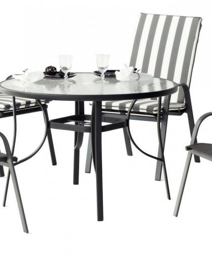salon de jardin odesa 4 places aluminium hevea mobilier de jardin