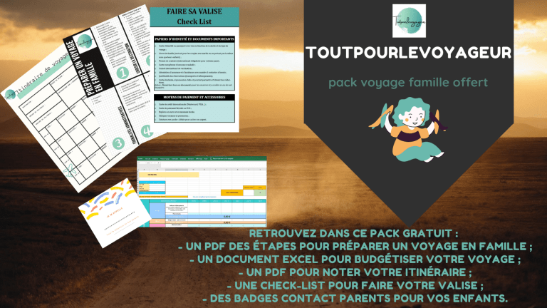 pack voyage famille offert