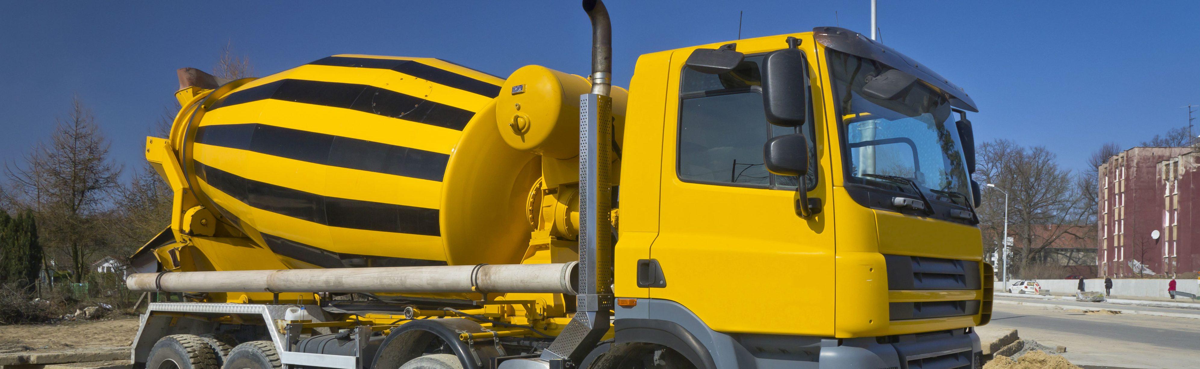 la livraison de beton par camion toupie
