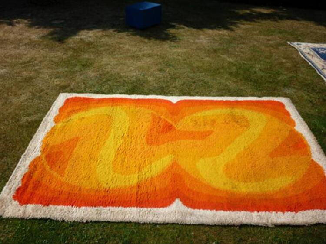 a vendre tapis laine vintage annees 70