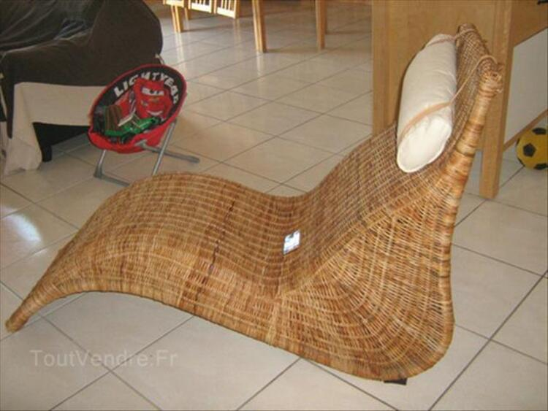 fauteuil relax en rotin de chez ikea