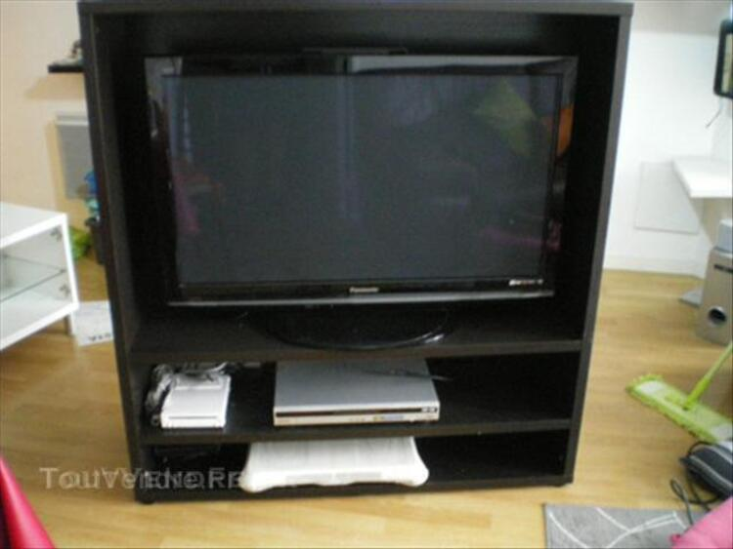 meuble tv ikea besta brun noir varennes