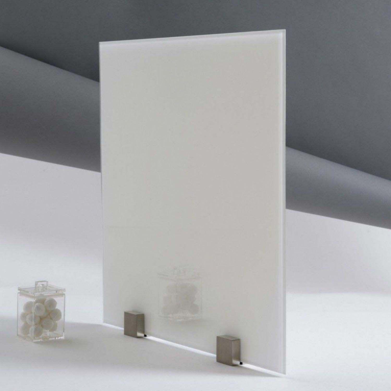 fond de hotte verre trempe laque blanc