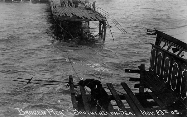 southend on sea pier damage