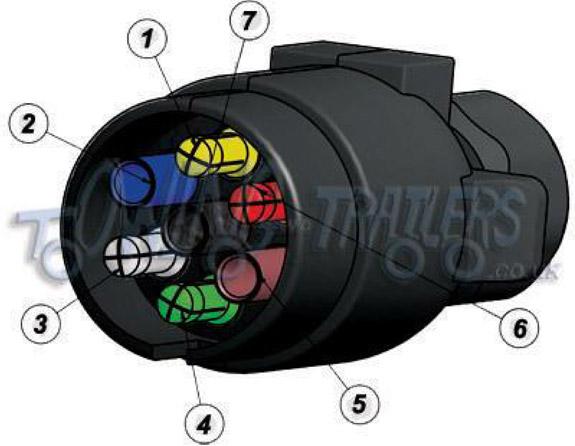 wiring diagrams for 7 pin 12n 'n' type trailer lights