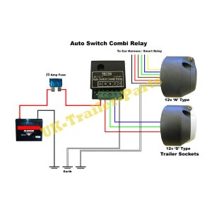 20Amp S Type 12v TEC2M Self Switching Dual Charge Relay