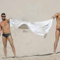 Ricky Martin and His Beach Buddy