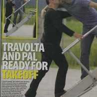 Travolta's Tasty Take-off Kiss