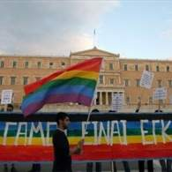 Greek Activists Hold Same-Sex Marriage Protest