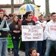 Bill Clinton Crosses Proposition 8 Picket Line in San Diego