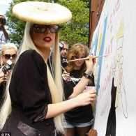 Lady Gaga Works Ritz Cracker Look