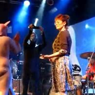 Watch: Susan Sarandon Spanks Pigs