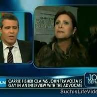 Watch: Joy Behar, Andy Cohen Discuss Carrie Fisher's Outing of John Travolta