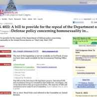 Senate Bill 4022 to Repeal 'Don't Ask, Don't Tell' Introduced