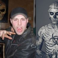 Photo: Mugler Muse 'Zombie Boy' Rick Genest, Before the Ink