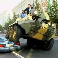 Lithuanian Mayor Crushes Illegally Parked Cars with Tank: VIDEO