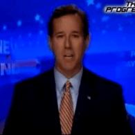 VIDEO: Rick Santorum Menaced by Wet Gay Soldiers