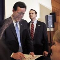 Rick Santorum Glitterbombed