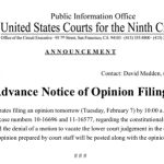 9th Circuit to Rule Regarding Constitutionality of Proposition 8
