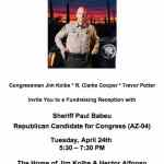 Log Cabin Republicans Hold Fundraiser for Arizona Sheriff Paul Babeu as Campaign Contributions Dry Up