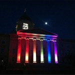 Oh Canada: The Manitoba Legislature All Lit Up for Gay Pride