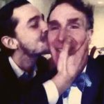 Shia LaBeouf Kisses Bill Nye the Science Guy: VIDEO