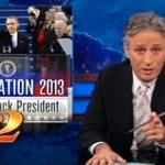 Jon Stewart Looks at Obama's Oath, Michelle's Bangs: VIDEO