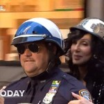 Cher Arrives at 'Today' Show Concert on NYPD Motorcycle: VIDEO
