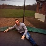Ben Cohen Fell Through a Trampoline: PHOTO