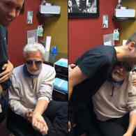 Amazing 80-Year-Old Grandpa Gets Equal Sign Tattoo to Support Gay Grandson: VIDEO