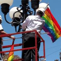 San Diego Mayor Raises 124 Pride Flags Over Gaslamp Quarter: VIDEO
