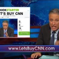 Jon Stewart Launches $10 Billion Kickstarter to Buy CNN: VIDEO