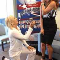 Tennis Legend Martina Navratilova Proposes to Girlfriend on Jumbotron at U.S. Open
