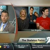 Kristen Wiig and Bill Hader Mock Reporter's Epic Fail 'Skeleton Twins' Interview: VIDEO