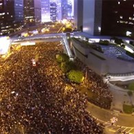 Drone Offers Bird's-Eye View Of Umbrella Revolution In Hong Kong: VIDEO