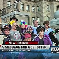 Gay Families Crash Bigoted Idaho Governor Butch Otter's Halloween Event: VIDEO