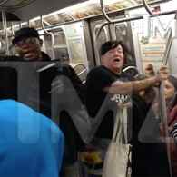 Orange is the New Black's Lea DeLaria Destroys NYC Subway Preacher: VIDEO