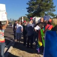 Christians Protest At 'Kill All Gays' Pastor Steven Anderson's Arizona Church – VIDEO