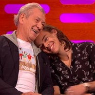Sir Ian McKellen And Harry Styles Share A Cuddle: VIDEO
