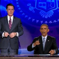 President Obama Hijacks 'The Colbert Report' – VIDEO