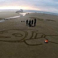 Meet Beachbot, Disney's Adorable Robot That Makes Massive Drawings In The Sand: VIDEO