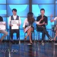 Darren Criss, Chris Colfer and the Cast of 'Glee' Play a Raunchy Game of Cards Against Humanity with Ellen: VIDEO