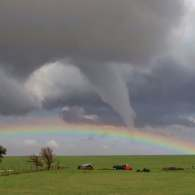 Rainbow and Tornado Cross Paths in 'Wizard of Oz'-Style Meteorological Moment: VIDEO