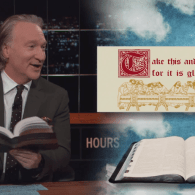 Bill Maher Unveils the King James Franco Bible to Help Entice Millennial Back Into Christianity: VIDEO